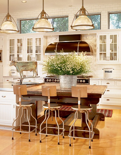 The bar stools that Karen blake used, in our opinion make this kitchen ...