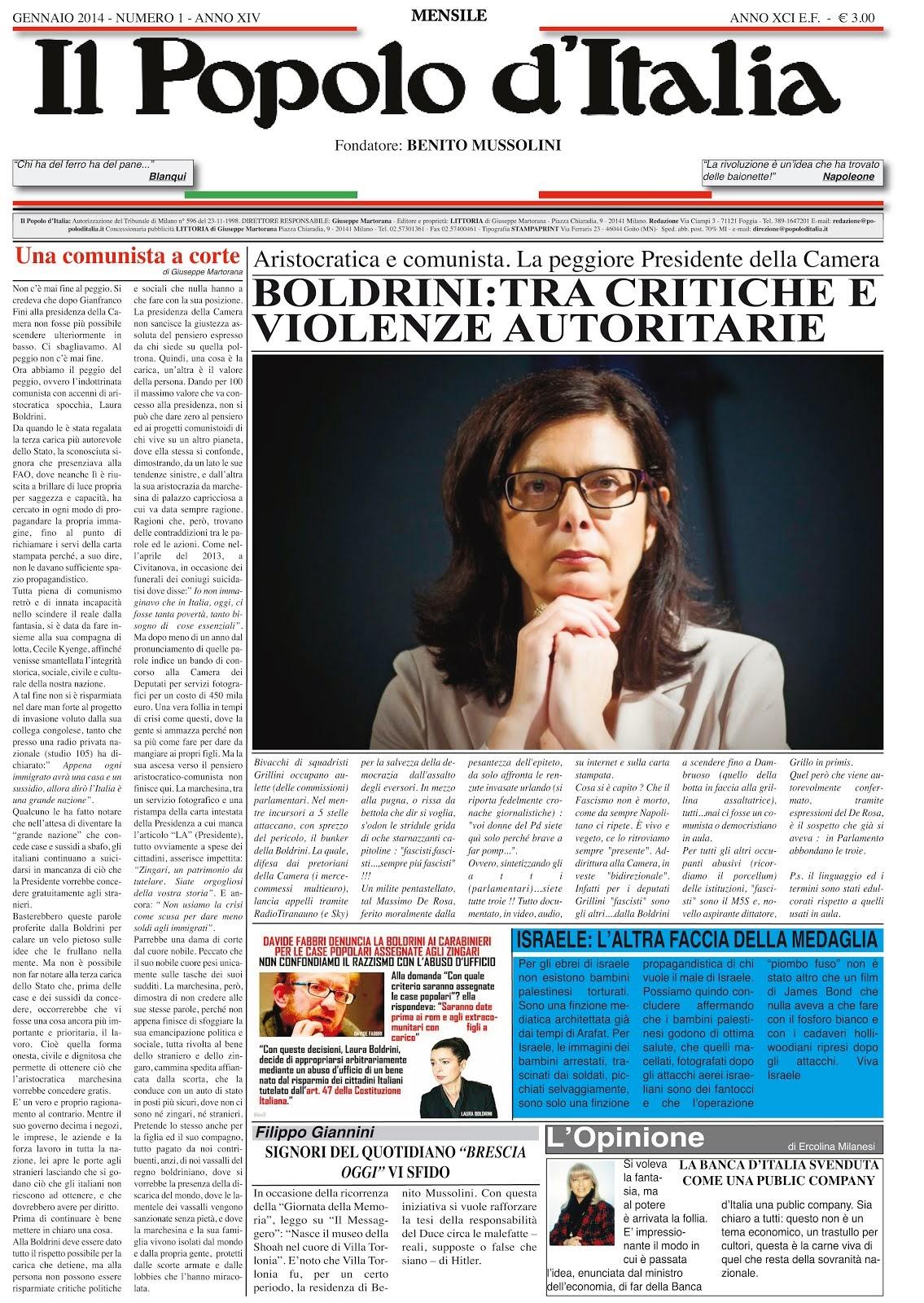 Il Popolo d'Italia Gennaio 2014