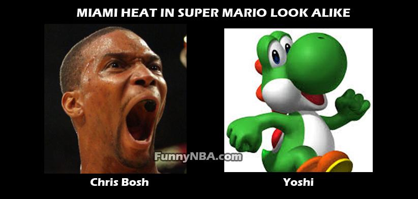 Super Mario Bros Vs Miami Heat | NBA FUNNY MOMENTS
