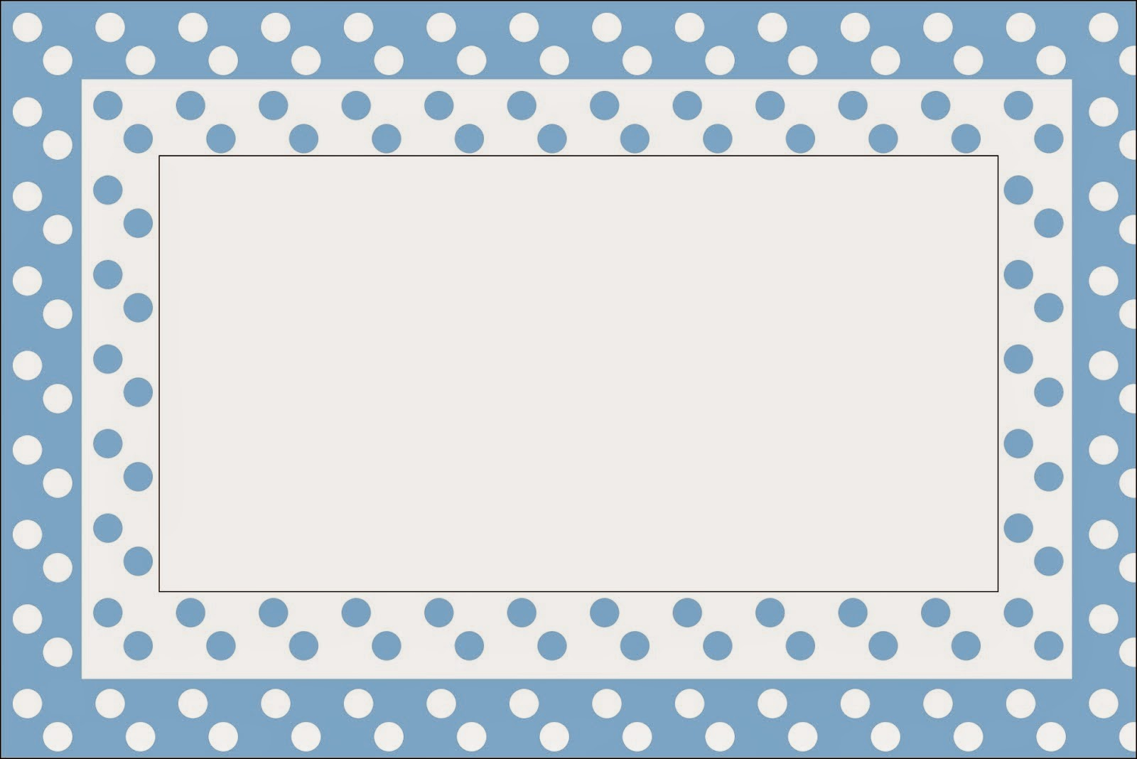 light blue with white polka dots first communion free printable