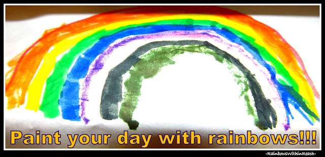 "photo of: ""Paint your day with rainbows!"""
