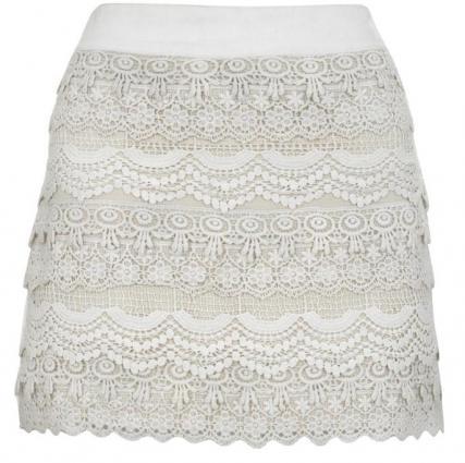 Para Hacer Esta Falda Que Ademas Es Muy Parecida A La Blanca Pero Con