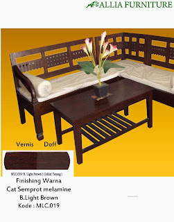 Contoh Furniture Semprot Melamine B.Light Brown