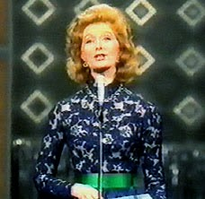 Moira Shearer hosts eurovision 1972