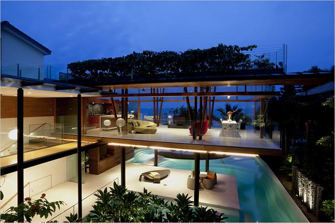 Arquitetando ideias eco casa de praia um luxo for Eco friendly beach house designs