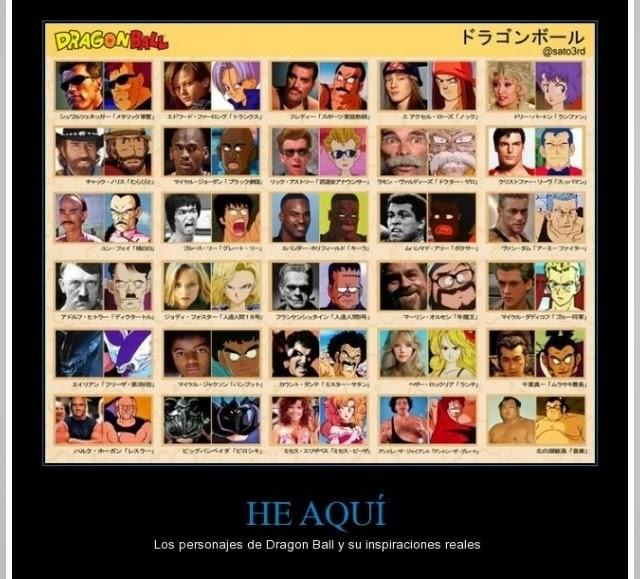 Los personajes reales en los que se inspiró Dragon Ball
