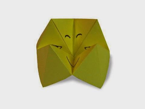 Cách gấp, xếp khuôn mặt ma thuật bằng giấy origami - Video hướng dẫn xếp hình - How to make a Pakupaku