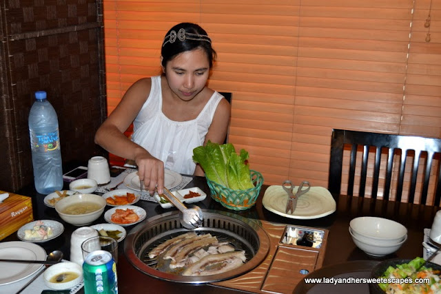 Korean BBBQ at Hyu Korean Restaurant in Oud Metha