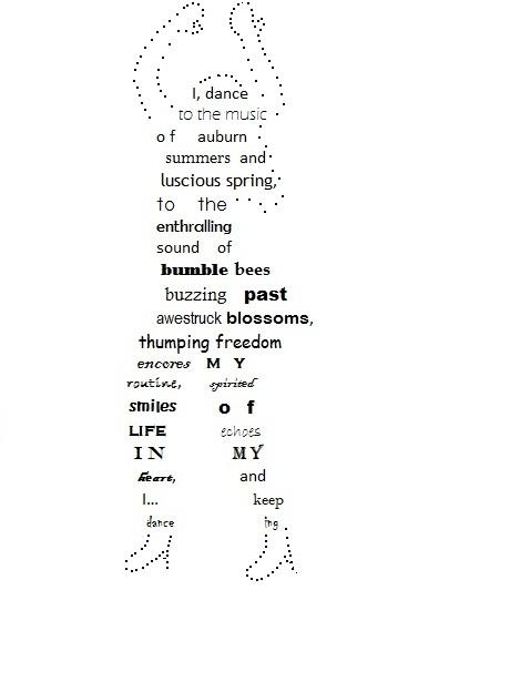End Rhyme Poems The poem below is a 'shape