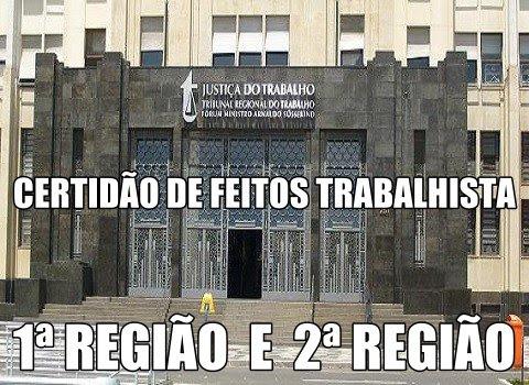 CERTIDÕES DE FEITOS TRABALHISTA
