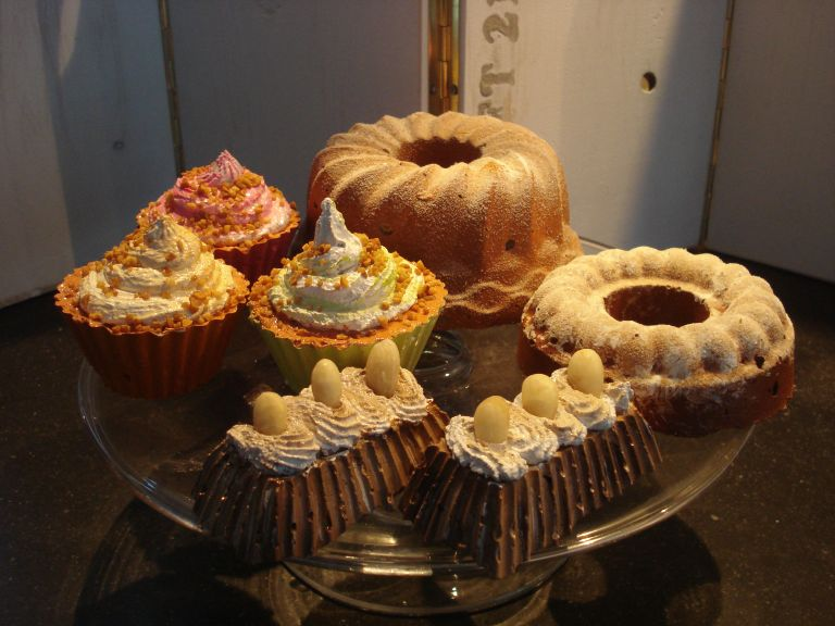 In de suite decoratie cupcakes gebak for Decoratie cupcakes