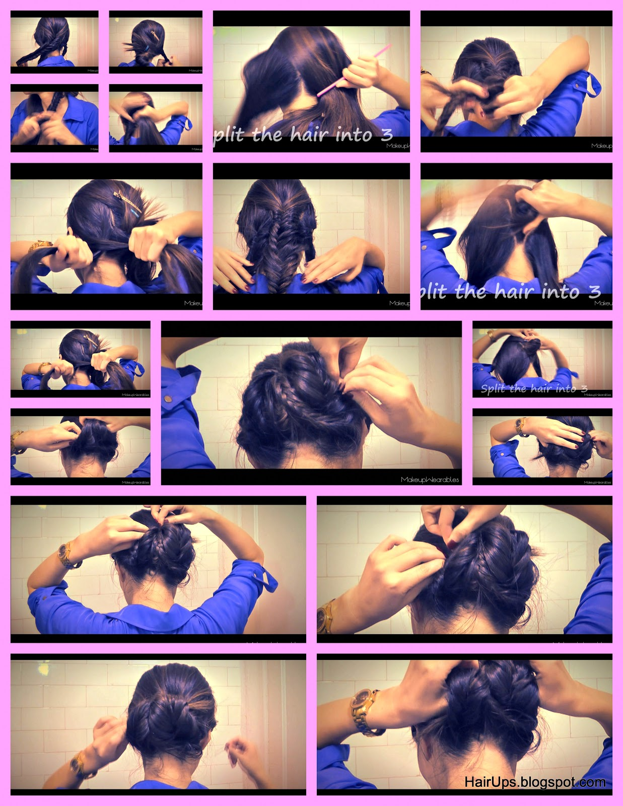 Hair Tutorial: wedding hairstyles, formal occasion, homecoming, prom