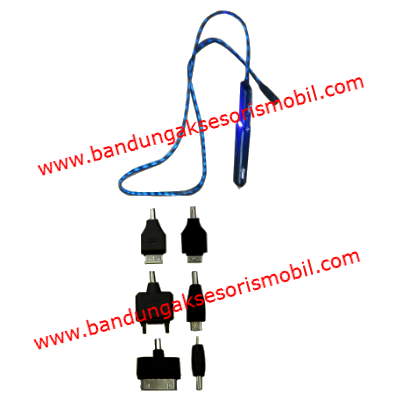 Charging BB Hitam Kabel Lampu Led