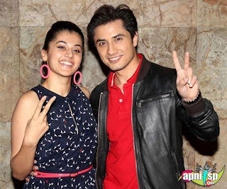 Ali Zafar with his co star from film Chasme Badoor In india