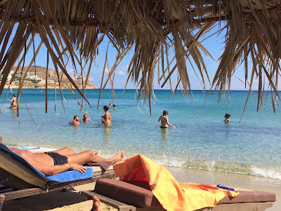 Kalo Livadi Beach in Mykonis, Greece, has something for everyone. #mojotravels
