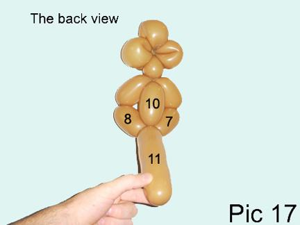 how to make a monkey balloon animal