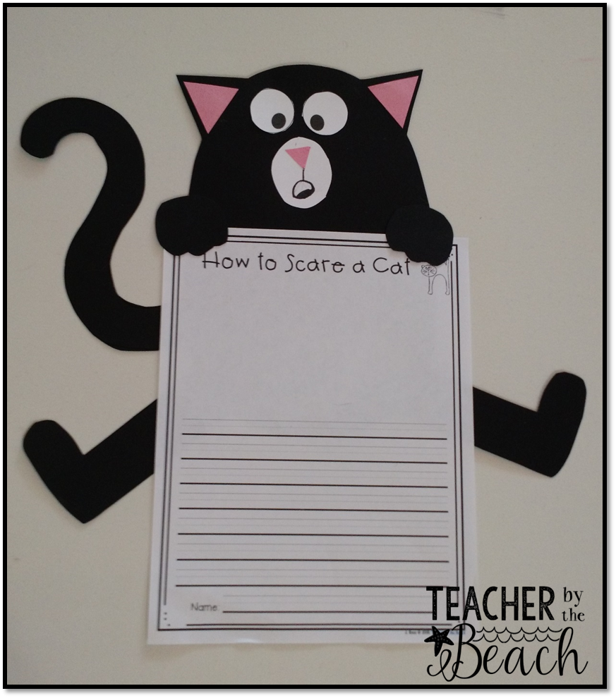 Scaredy cat splat teacher by the beach and i got my crafty bug and was able to finish up the cat craft for it maxwellsz