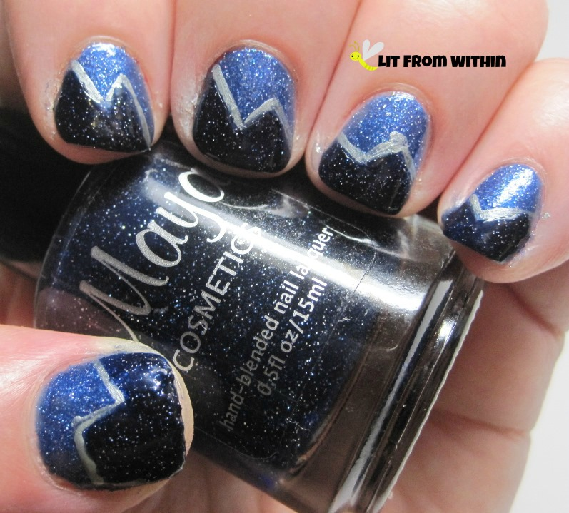 Maya Cosmetics Stargazing is supposed to be a dupe for Essie Starry Starry Night.