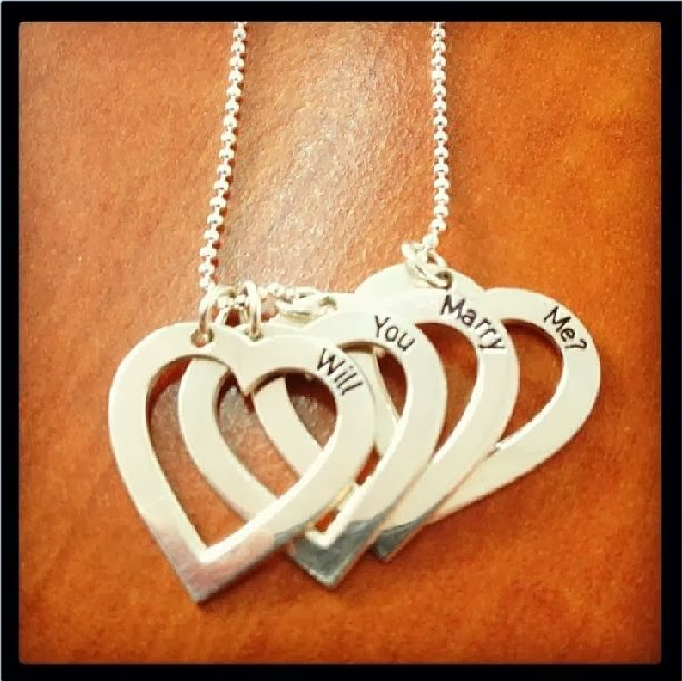 Silver Engraved Heart Necklace