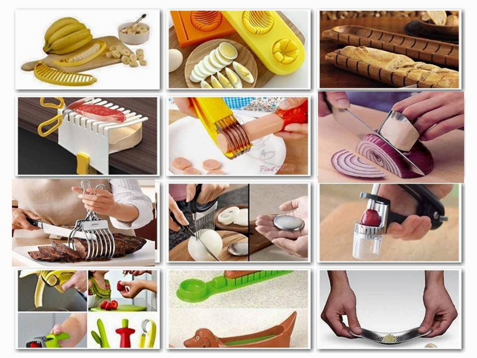 Modern tools for cutting and peeling food