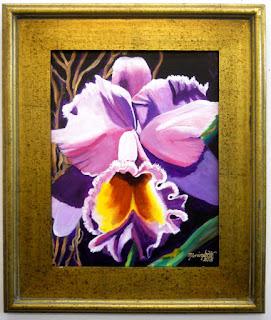 Kauai Orchid Original Acrylic Painting