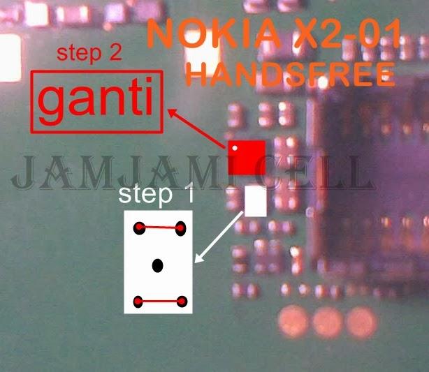 solusi jumper handsfree nokia X2-01, Jamjami cell