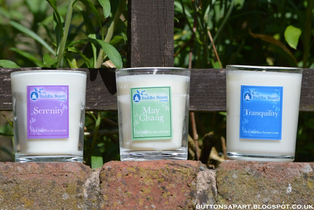 A picture of candles from The Buddha Beauty Company