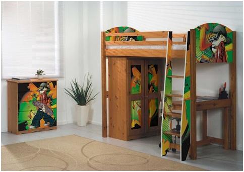 Juvenile graffiti bedrooms. Hip hop culture, graffiti decoration.