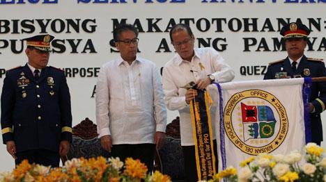 President Aquino allergy flowers pollen