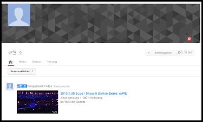 Akun YouTube Cho Kyuhyun