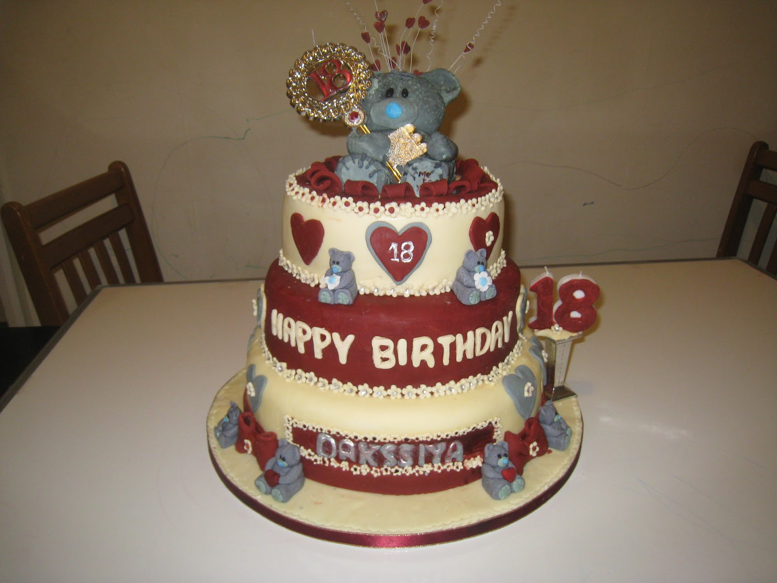 Rajany 39 s cake decorations and sugarcraft me to you 18th for 18th birthday cake decoration