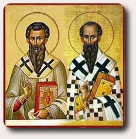 św. Grzegorz z Nazjanzu i św. Bazyli Wielki