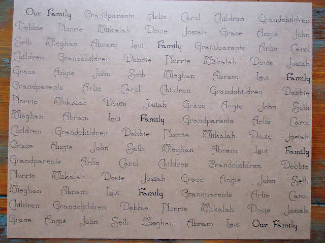 How to make a  Family Names Framed Gift | www.knickoftime.net