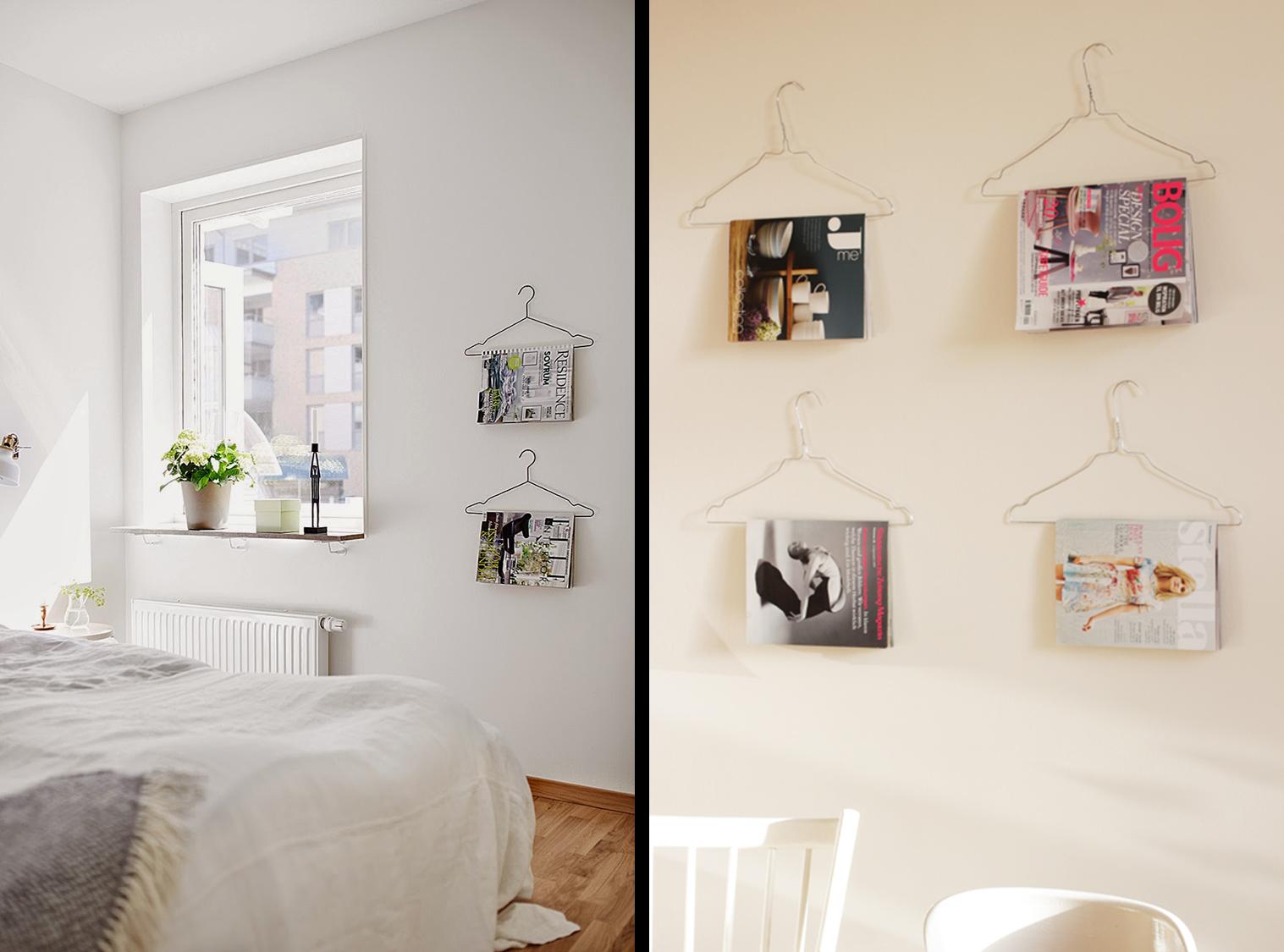 Decoraci n f cil decorar las paredes con perchas de ropa for Como decorar el hogar