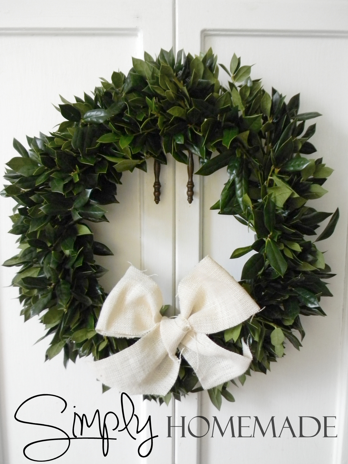 Simply Homemade Diy Holly Wreath Tutorial