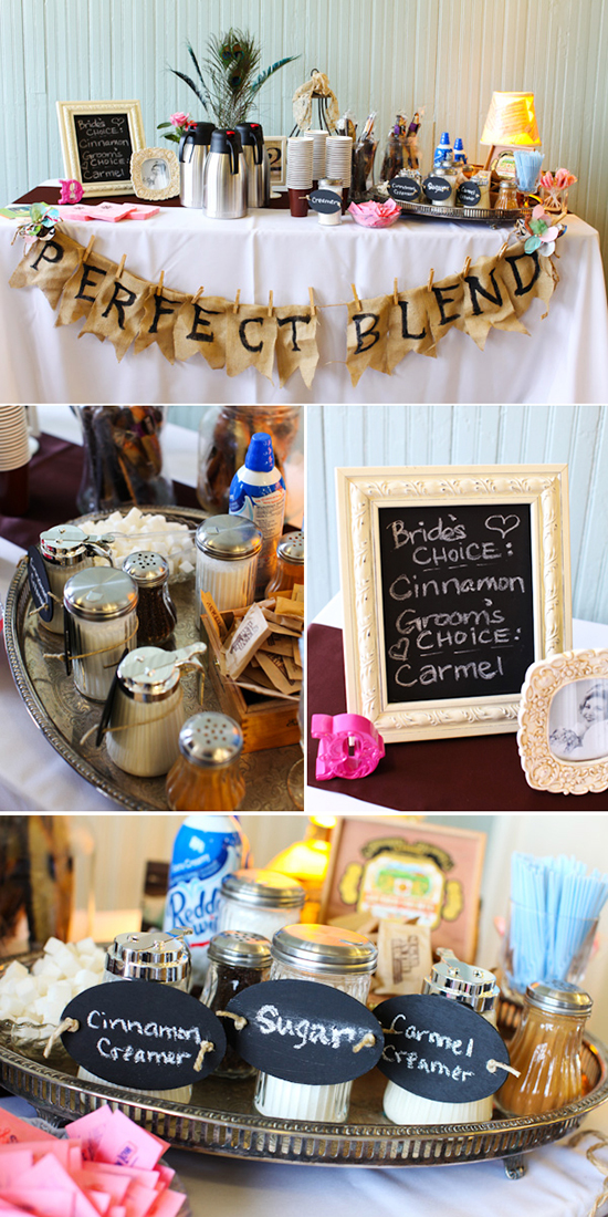 brunch wedding / coffee bar.