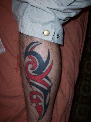 Tribal tattoos for men on leg