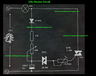 230V Flasher Circuit diagram