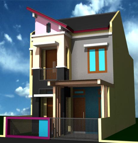 desain rumah tingkat di lahan sempit