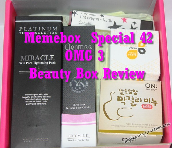 Memebox Special 42 OMG 3 review, unboxing