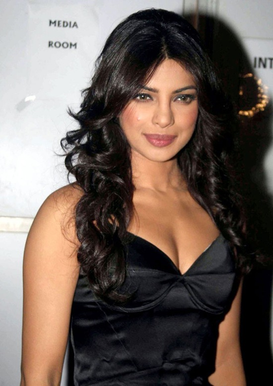 Priyanka Chopra in Sexy Black Dress