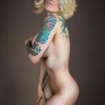 Sexy Big Breast Girl Tattoo Design