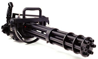 XM133 Minigun Gatling type machine gun Multi barrel firearm