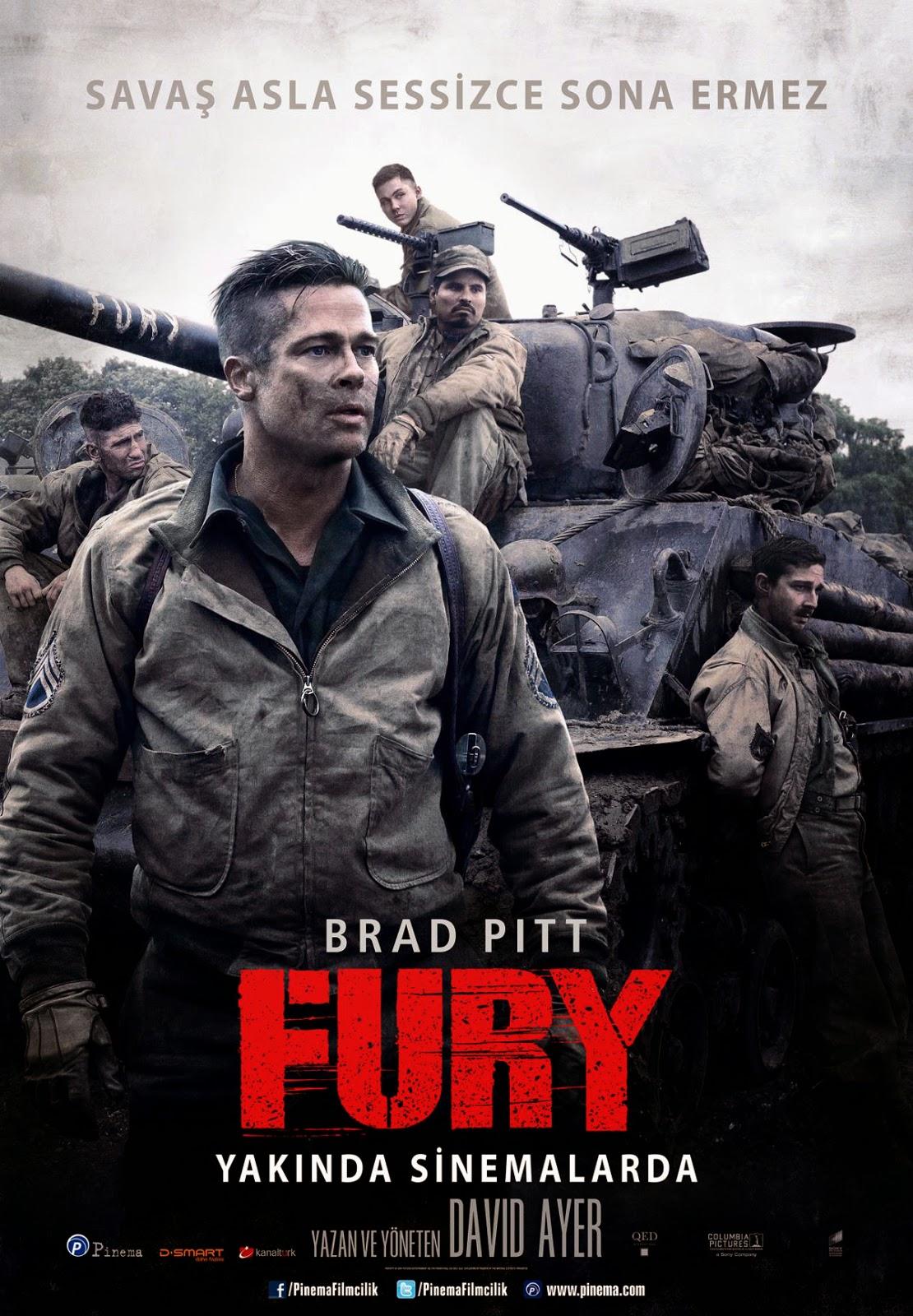 Fury (2014) 1080P Film indir