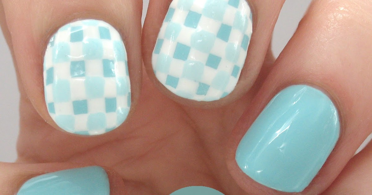 One Nail To Rule Them All: Blue Checkers/Gingham