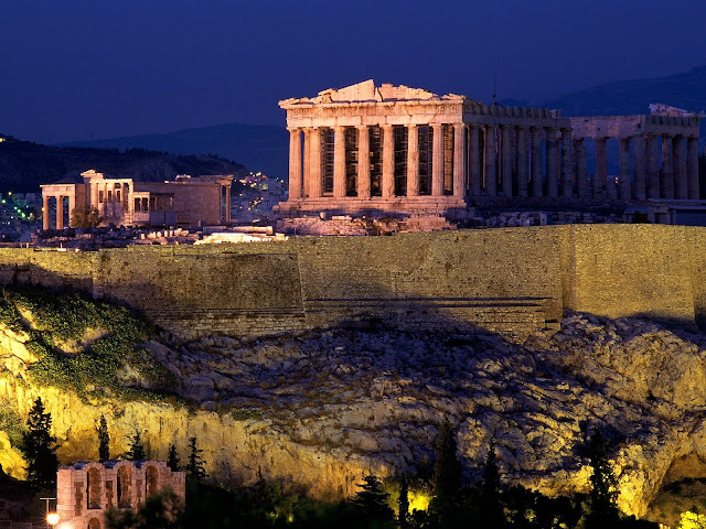 Athens Wallpapers Beautiful Night lights
