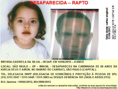 Campanha para encontrar criança desaparecida em templo evangélico toma redes sociais