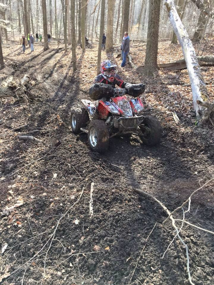 He finished up 2nd today at round 1 in the MWXC series in Indiana.#DRRracing #DRR #DRRUSA , red and white, quad, MWXC series, Contingency