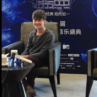 Greyson Chance doing press for MTV in Beijing China