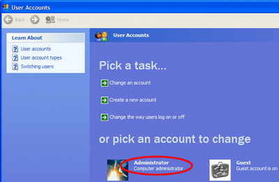 How To Convert Guest to Administrator in Windows XP